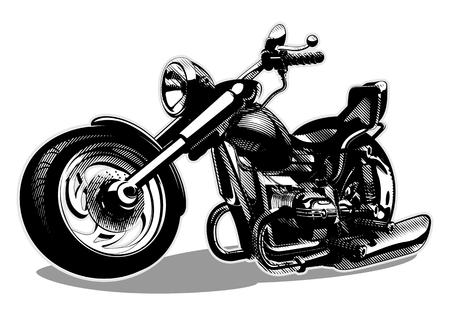 motorcycle road: Vector Cartoon Motorbike