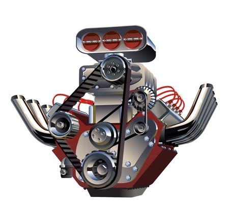 Vector Cartoon Turbo Engine 일러스트