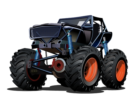 hot rod: Cartoon Monster Truck Illustration