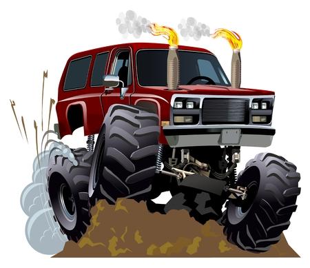 camion caricatura: Monster Truck Cartoon