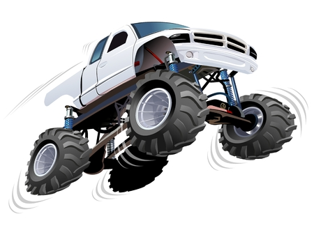 repaint: Monster Truck. Available EPS-10 separated by groups and layers with transparency effects for one-click repaint