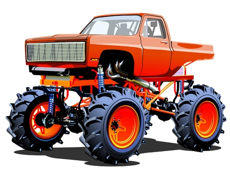 Monster Truck. Available EPS-10 separated by groups and layers with transparency effects for one-click repaint