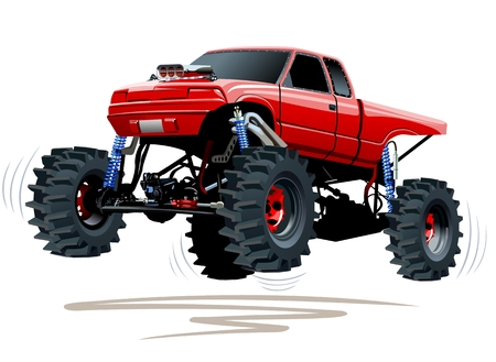 monster truck: Monster Truck. Available EPS-10 separated by groups and layers with transparency effects for one-click repaint