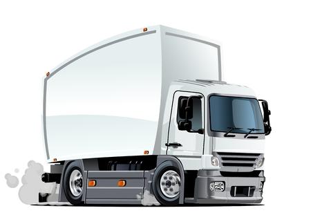 camion: Carro de la historieta. Formato vectorial EPS-10 disponibles separados por grupos y capas con efectos de transparencia para un solo click repaint