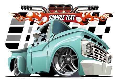 truck road: Vector cartoon Lowrider. Available EPS-10 separated by groups and layers with transparency effects for one-click repaint Illustration