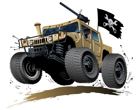 camion caricatura: Buggy de dibujos animados. EPS-10 disponibles separados por grupos y capas con efectos de transparencia para un solo click repaint