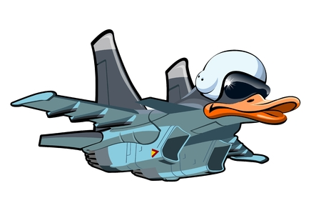 army helmet: Vector Cartoon Jetbird 1. Available EPS-10 vector format separated by groups and layers for easy edit