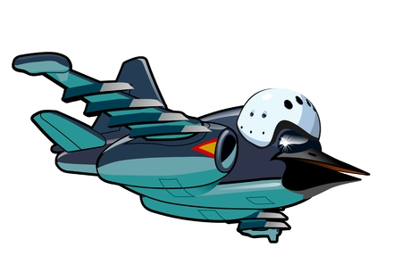 military helmet: Vector Cartoon Jetbird 2. Available EPS-10 vector format separated by groups and layers for easy edit