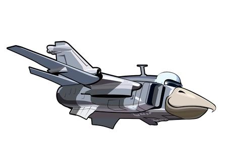 aeroplano: Vector Cartoon Jetbird 3. EPS-10 è disponibile in formato vettoriale separato dai gruppi e strati per facile stampa Vettoriali