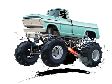 hot: Cartoon Monster Truck. Available EPS-10 separated by groups and layers with transparency effects for one-click repaint