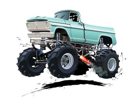 calor: Monster Truck Cartoon. EPS-10 disponibles separados por grupos y capas con efectos de transparencia para un solo click repaint