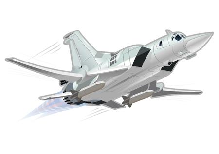 chorro: Bombardero vector de la historieta. EPS-10 disponibles formato vectorial separó por los grupos y las capas para facilitar la edición