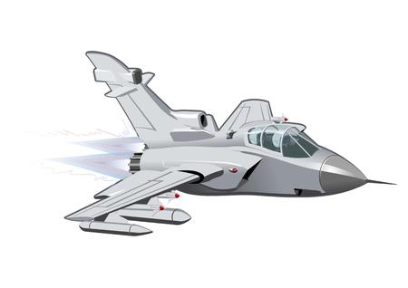 mosca caricatura: Vector de la historieta Avi�n de combate. EPS-10 disponibles formato vectorial separ� por los grupos y las capas para facilitar la edici�n