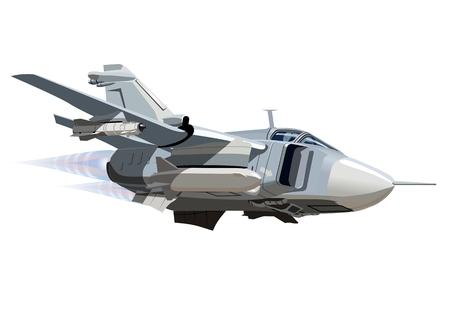 Bomber Vector Cartoon. EPS-10 è disponibile in formato vettoriale separato dai gruppi e strati per facile stampa