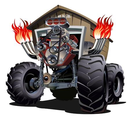 cartoon tractor: Cartoon Monster Truck.