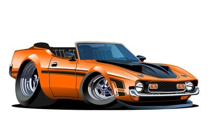 edge: cartoon retro car.