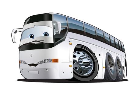 tourists: Cartoon Tourist Bus. Illustration