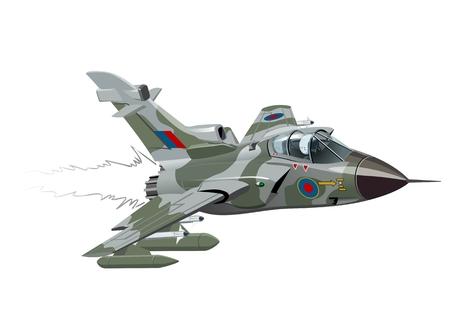 fighter plane: Cartoon Fighter Plane.