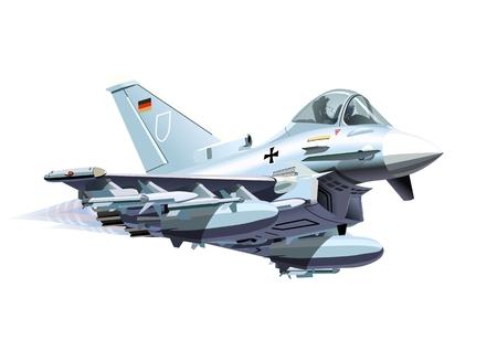 avion chasse: Cartoon Avion de chasse.