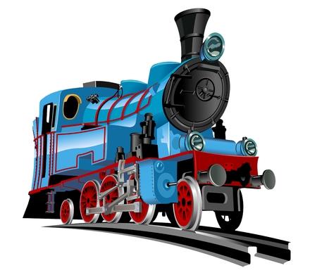 Vector de dibujos animados del tren EPS-10 disponibles formato vectorial separados por grupos para fácil corrige