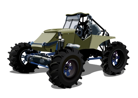 4wd: Vector Cartoon buggy. Available EPS-10 separated by groups and layers with transparency effects for one-click repaint Illustration