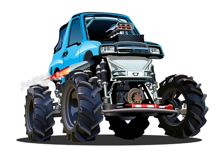 repaint: Cartoon Monster Truck. Available EPS-10 separated by groups and layers with transparency effects for one-click repaint