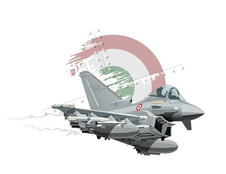 pilot cockpit: Vector Cartoon Fighter Plane. Available EPS-10 vector format separated by groups and layers for easy edit Illustration