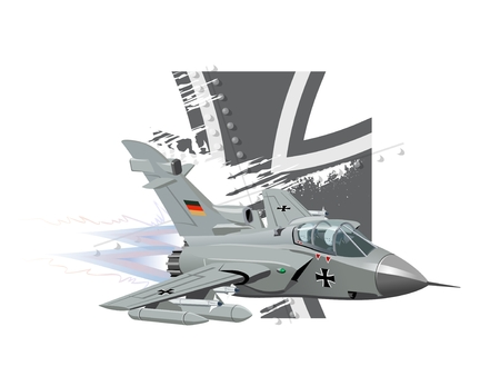 modern fighter: Vector Cartoon Fighter Plane. Available EPS-10 vector format separated by groups and layers for easy edit Illustration