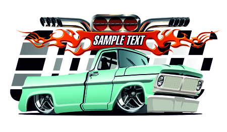 Vector cartoon Lowrider. Available EPS-10 separated by groups and layers with transparency effects for one-click repaint Illustration