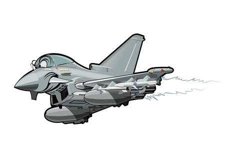 Vector Cartoon fighter. Available EPS-10 vector format separated by groups and layers for easy edit Illustration