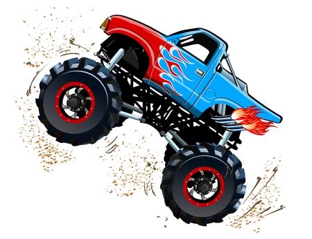 Cartoon Monster Truck. EPS-10 disponibles séparées par des groupes et des couches avec des effets de transparence pour un seul clic repeindre