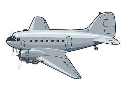 Vector Cartoon Plane. Available  vector format separated by groups and layers for easy edit