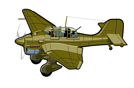 air transport: Vector Cartoon Plane. Available  vector format separated by groups and layers for easy edit