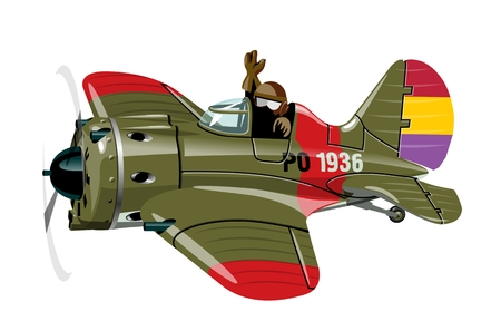Vector Cartoon Retro airplane. Available EPS-10 vector format separated by groups for easy edit. Illustration