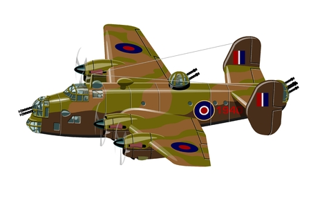 pilot  cockpit: Vector cartoon retro bomber plane. Available EPS-10 vector format separated by groups for easy edit