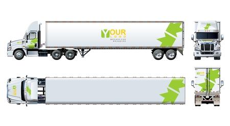 ベクター トラック テンプレートは、白で隔離。利用可能な EPS 10 グループとレイヤーと 1 回クリック再描画の透明効果、ブランディングのためのク