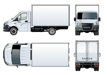 ベクター トラック テンプレートは、白で隔離。利用可能な EPS 10 グループと 1 回クリック再描画の透明効果の層で区切られました。
