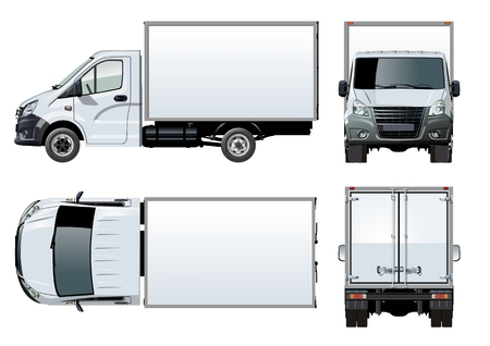 Vector truck template isolated on white. Available EPS-10 separated by groups and layers with transparency effects for one-click repaint
