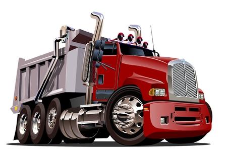Vector Cartoon Dump Truck. format vectoriel EPS-10 disponibles séparés par des groupes et des couches pour faciliter modifier Banque d'images - 81635622