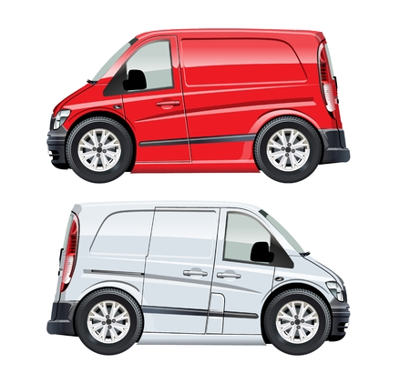 Cartoon van isolated on white background. Available EPS-10 vector format separated by groups and layers for easy edit 向量圖像