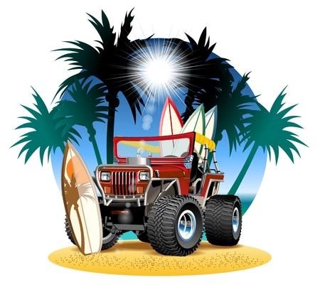 Truck cartoon image.