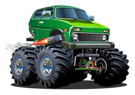 만화 몬스터 트럭.