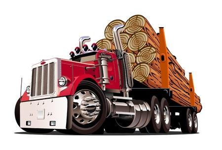 Cartoon registreren vrachtwagen geïsoleerd op een witte achtergrond. Beschikbaar EPS-10 vectorformaat gescheiden door groepen en lagen voor eenvoudige bewerking