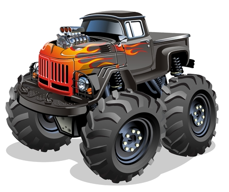 Cartoon Monster Truck. Available EPS-10 separated by groups and layers for easy edit