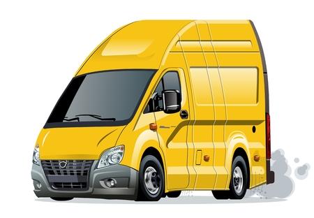 Cartoon van isolated on white background.