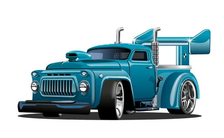 Cartoon retro hot rod isolated on white background. Available EPS-10 vector format separated by groups and layers for easy edit 向量圖像