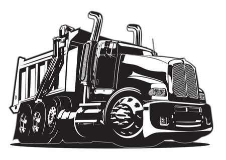 Vector Cartoon Dump Truck. Banco de Imagens - 90152745