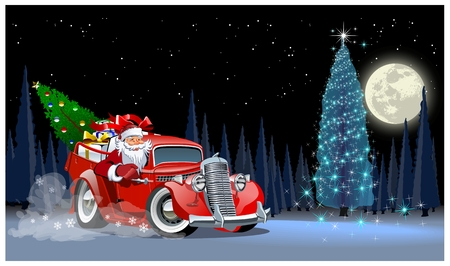 Vector Christmas Card. Available  format separated by groups and layers for easy edit