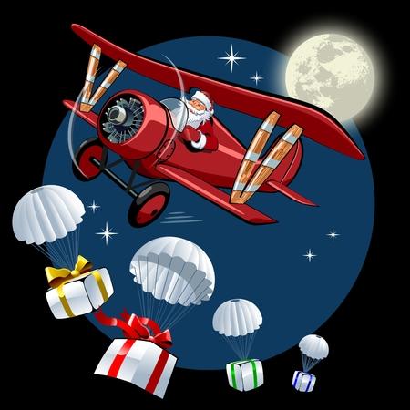 Vector Cartoon Christmas card.