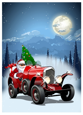 Cartolina di Natale vettoriali. Formato EPS-10 disponibile separato da gruppi e livelli per una facile modifica.